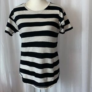 Madewell Striped Short Sleeve T-Shirt Top Small